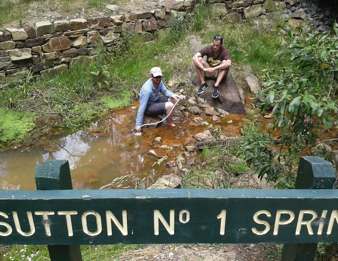 Sutton Spring sampling
